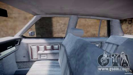 Chevrolet Impala 1983 [Final] for GTA 4 inner view