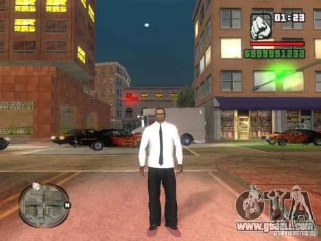 Dress shirt with tie for GTA San Andreas second screenshot