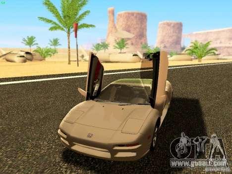 Honda NSX Custom for GTA San Andreas back left view