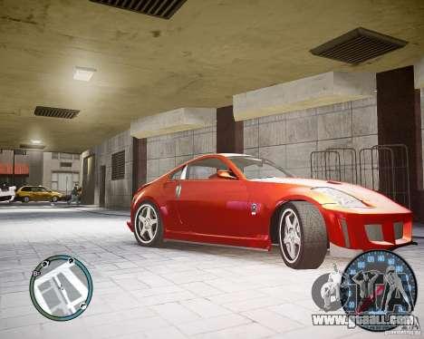 Nissan 350Z Z33 for GTA 4 left view