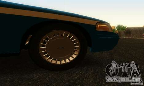 Ford Crown Victoria Wisconsin Police for GTA San Andreas right view