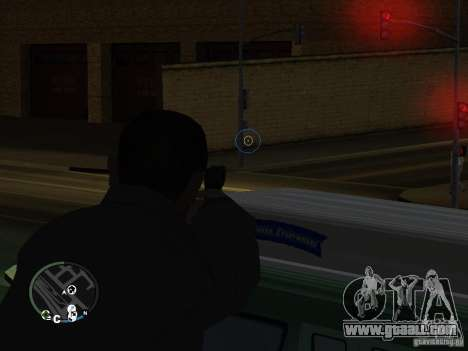 HUD and weapons from GTA IV for GTA San Andreas second screenshot