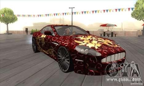 Aston Martin DB9 Female Edition for GTA San Andreas back view