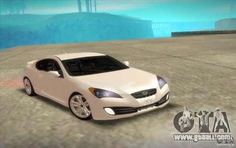 Hyundai Genesis 3.8 Coupe for GTA San Andreas upper view