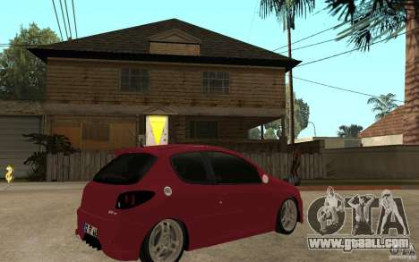 Peugeot 206 GTI CebeL Tuning for GTA San Andreas right view
