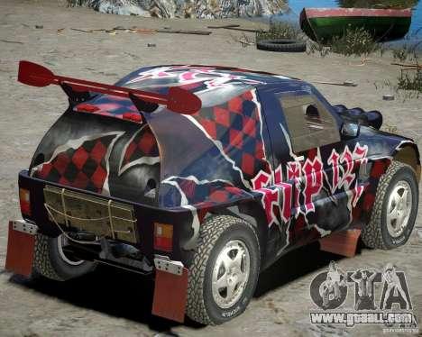 Mitsubishi Pajero Proto Dakar Vinyl 3 for GTA 4 right view