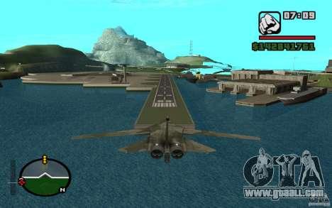 F-111 Aardvark for GTA San Andreas back left view