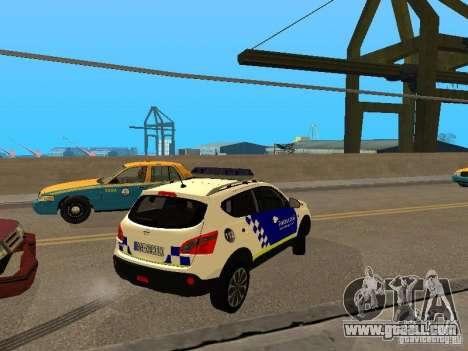 Nissan Qashqai Espaqna Police for GTA San Andreas right view