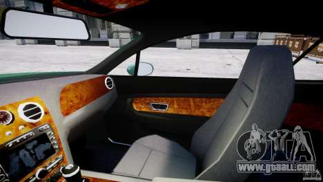 Bentley Continental GT for GTA 4 inner view