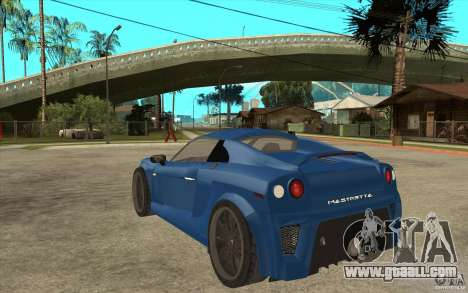 Mastretta MXT v1.1 for GTA San Andreas back left view