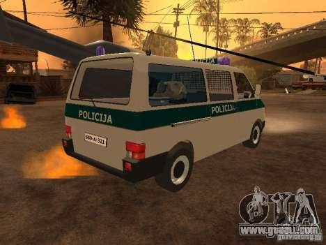 Volkswagen Transporter T4 Bosnian police for GTA San Andreas back left view
