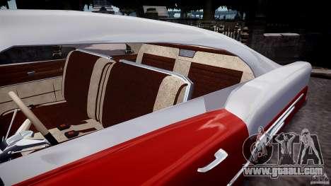 Buick Custom Copperhead 1950 for GTA 4 inner view