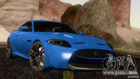 Jaguar XKR-S 2011 V1.0 for GTA San Andreas upper view
