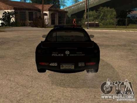 Mazda RX-7 Police for GTA San Andreas right view