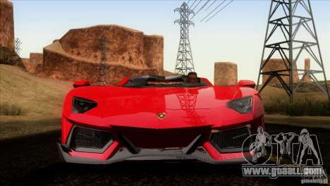 Lamborghini Aventador LP-700 J for GTA San Andreas bottom view