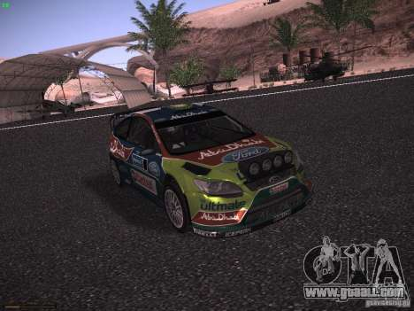 Ford Focus RS WRC 2010 for GTA San Andreas left view