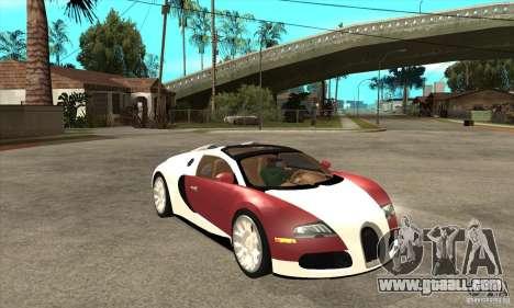 Bugatti Veyron Grand Sport for GTA San Andreas back view