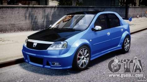 Dacia Logan 2008 [Tuned] for GTA 4 left view