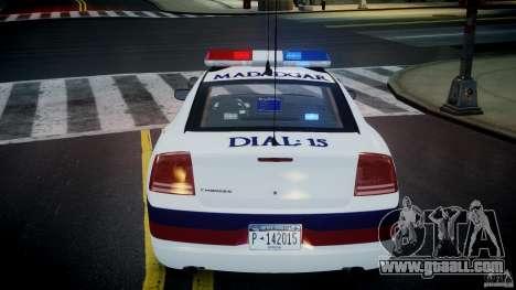 Dodge Charger Karachi City Police Dept Car [ELS] for GTA 4 upper view