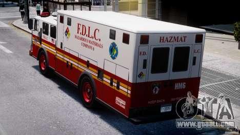 LCFD Hazmat Truck v1.3 for GTA 4 side view