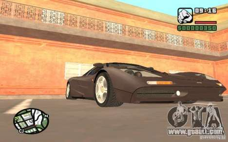 McLaren F1 for GTA San Andreas back left view