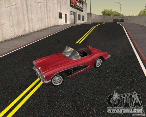 Chevrolet Corvette 1959 for GTA San Andreas back view