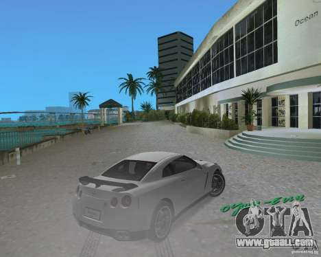 Nissan GT R35 Vspec for GTA Vice City right view