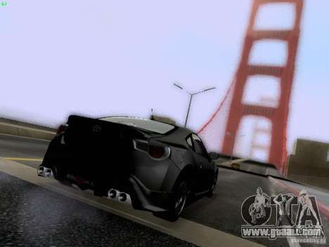 Toyota 86 TRDPerformanceLine 2012 for GTA San Andreas interior