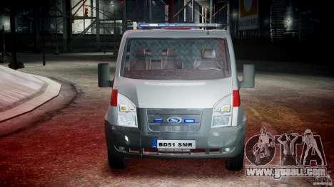 Ford Transit Polish Firetruck [ELS] for GTA 4 side view