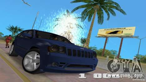 Jeep Grand Cherokee for GTA Vice City inner view