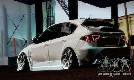 Subaru Impreza WRX Camber for GTA San Andreas bottom view
