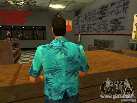 Tommy Vercetti in AMMU-NATION for GTA San Andreas third screenshot