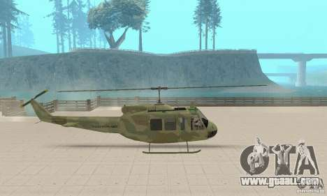 UH-1 Iroquois (Huey) for GTA San Andreas back left view
