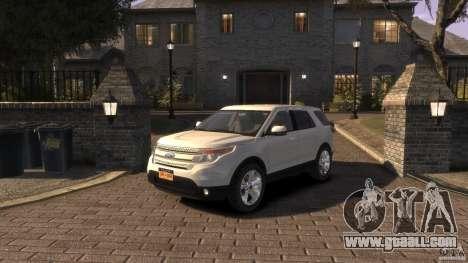 Ford Explorer 2011 for GTA 4