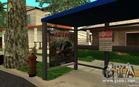 New bus stop for GTA San Andreas second screenshot
