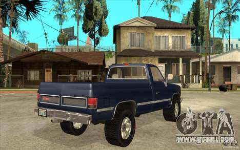 GMC Sierra 1986 for GTA San Andreas right view