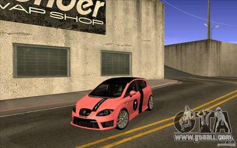 Seat Leon Cupra R for GTA San Andreas inner view