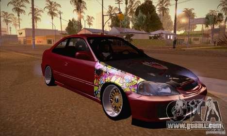 Honda Civic Tuning 2012 for GTA San Andreas back view