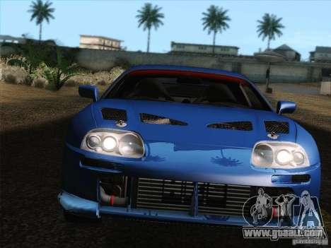 Toyota Supra TRD3000GT v2 for GTA San Andreas engine