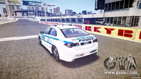 Honda Accord Type R NYPD (City Patro 1950l) ELS for GTA 4 back left view