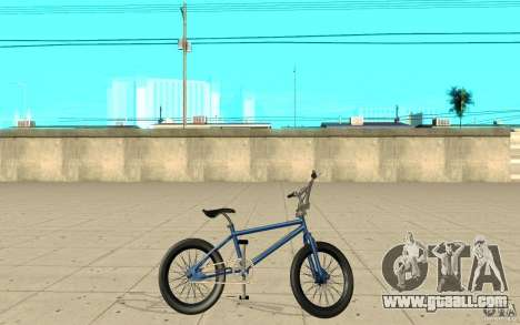 X-game BMX for GTA San Andreas left view