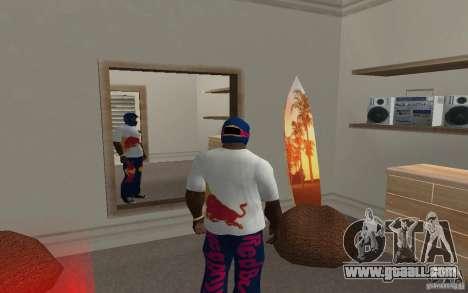 Red Bull Clothes v2.0 for GTA San Andreas second screenshot