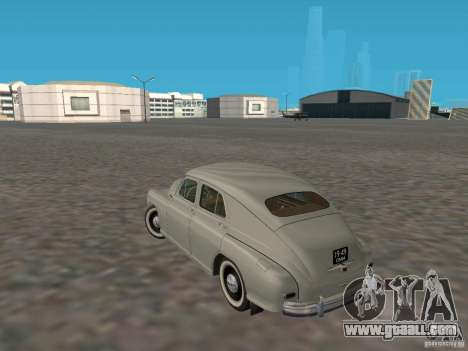GAZ M20 Pobeda 1949 for GTA San Andreas back left view