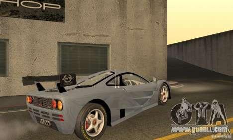 Mclaren F1 LM (v1.0.0) for GTA San Andreas