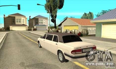 GAZ 3110 Sedan for GTA San Andreas back left view