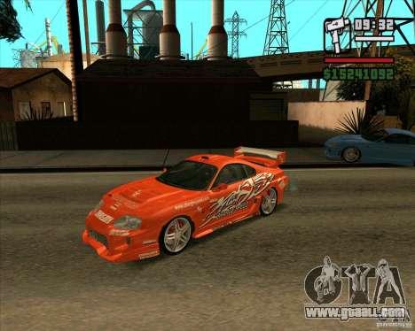Toyota Supra MK4 tunable for GTA San Andreas