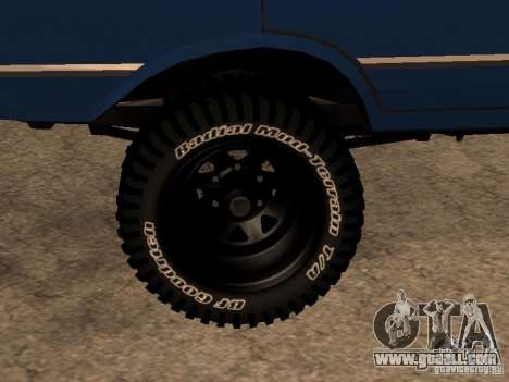 Moskvich 412-4 x 4 for GTA San Andreas left view