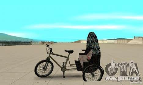 Manual Rickshaw v2 Skin3 for GTA San Andreas left view