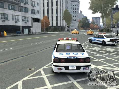 Chevrolet Impala NYCPD POLICE 2003 for GTA 4 back left view