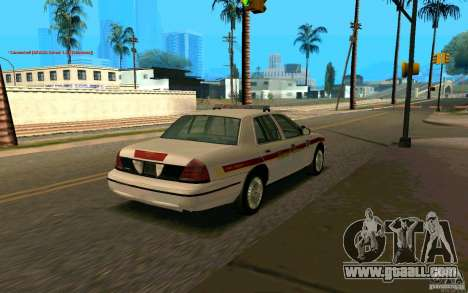 Ford Crown Victoria South Dakota Police for GTA San Andreas back left view